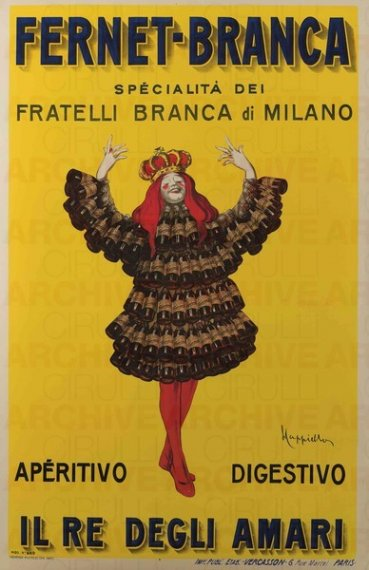 1909 Il re degli amari fernet-branca comunicazione
